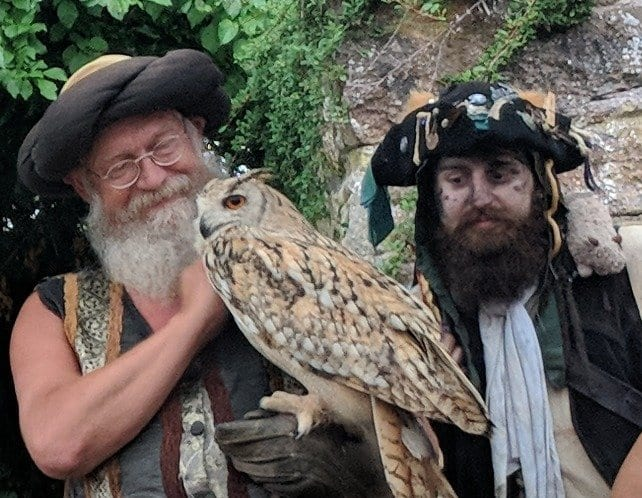 Two pirates and an owl
