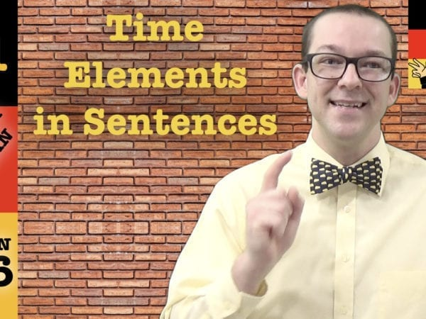 German Word Order with Time