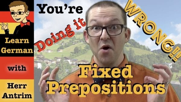 German Verbs with Fixed Prepositions