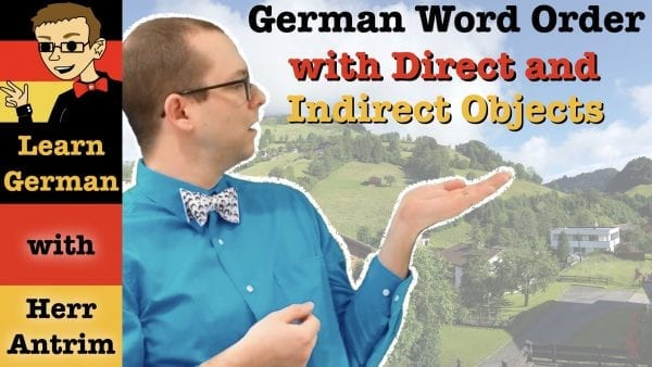 German Word Order with Direct and Indirect Objects